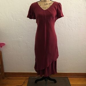 K Studio burgundy dress, size 10